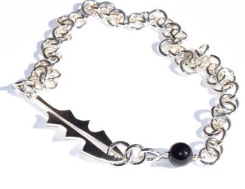 Løvetann halskjede i sølv med svart onyx 2500.-