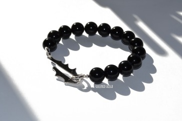 Løvetann armbånd med svart onyx 750.-