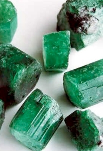 Columbian emeralds raw