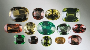 Range of unheated, natural color zircons from Sri Lanka, sizes from 1-7 ct