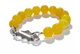 Løvetann armbånd med nydelige gule Jade 750.-